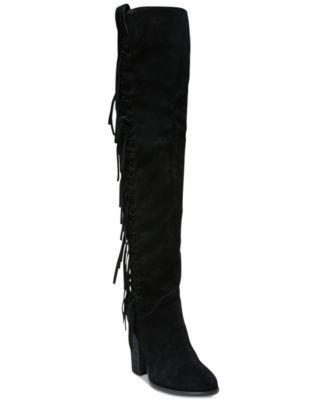 Carlos by Carlos Santana Garrett Knee-High Fringe Boots | macys.com