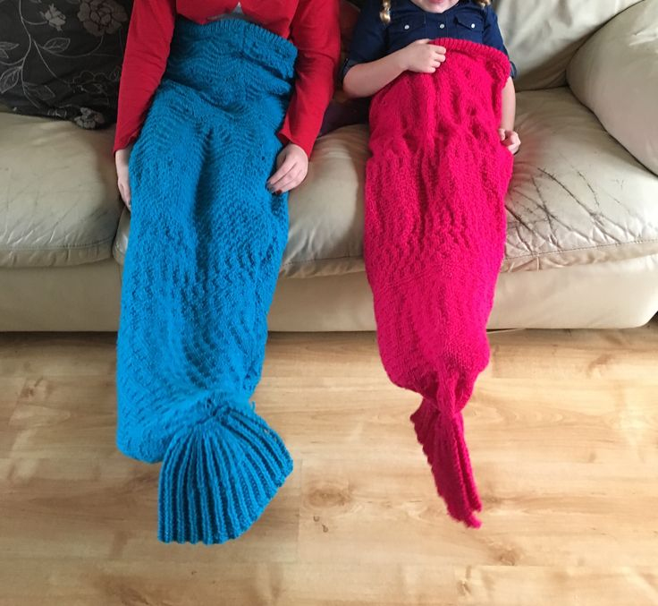 Finally... got my mermaid tails finished 😊😊two very happy girls.