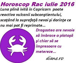 diane.ro: Horoscop Rac iulie 2016