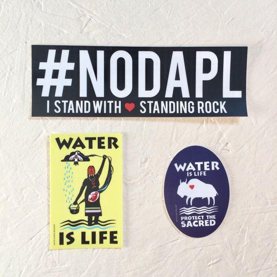 NODAPL Support Standing Rock 3 weatherproof by ultraterrestrial