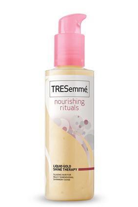 Tresemme Nourishing Rituals Liquid Gold Shine Therapy This Lightweight Conditioning Treatment Helps Rejuvenate Tired
