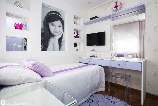 Enxoval quarto menina lilás branco