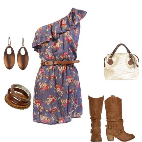 Summer Dress w/ boots