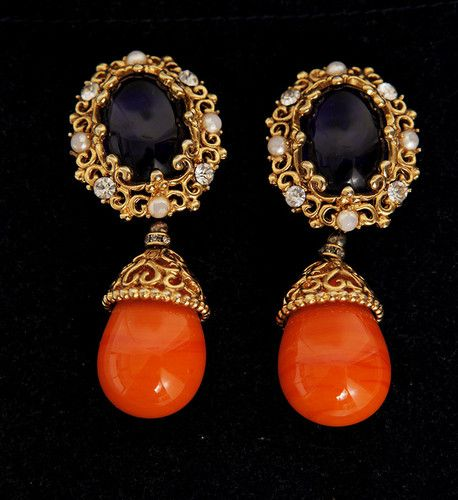 Vintage Dior Earrings Ebay Costume Jewelry Pinterest And