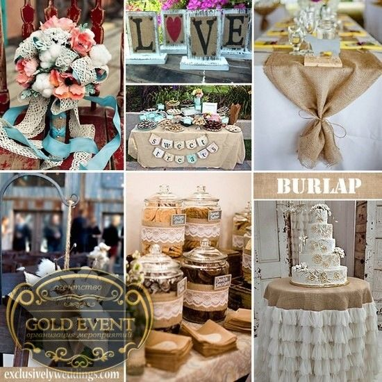 93 best Burlap Wedding Ideas images on Pinterest | Burlap weddings ...
