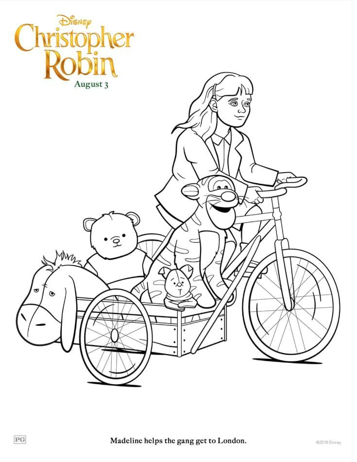 Free Disney Christopher Robin Madeline Coloring Page Books And