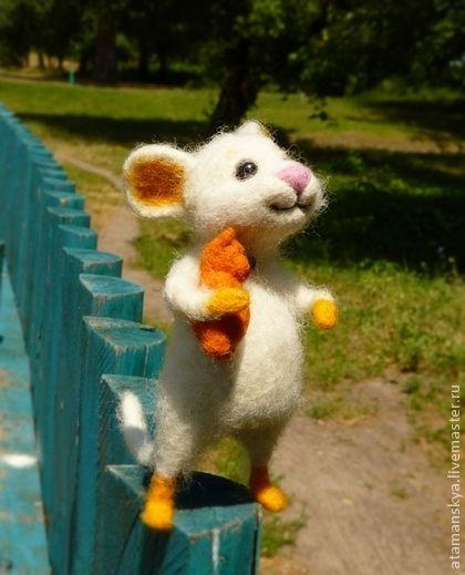Toy animals, handmade.  Fair Masters - handmade little mouse.  Handmade.