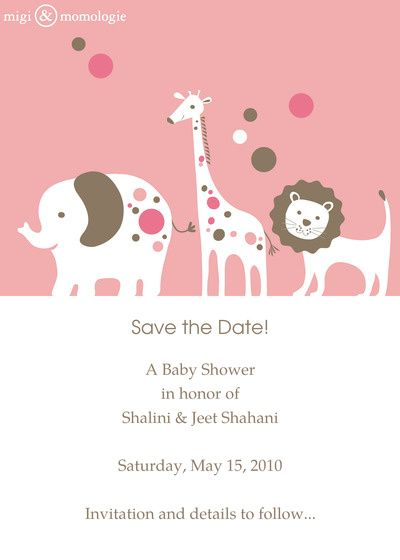 Save The Date Baby Shower For The Shahanis Online Invitations