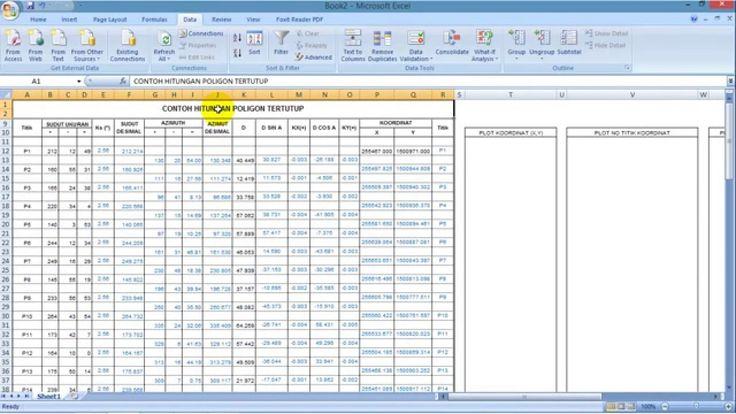 Cara Menggambar Poligon Tertutup - Dari Excel Ke AutoCAD