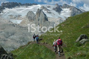 Dolomite's hike Royalty Free Stock Photo