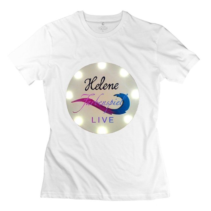 QDYJM Women's Helene Fischer Farbenspiel Live Logo T-shirt - L White