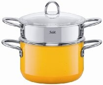 Silit 3-3/4-Quart Steamer with Insert, Crazy Yellow