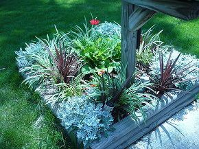 perennial maintenance free flower bed, flowers, gardening, perennials, Maintenance free flower bed around mailbox