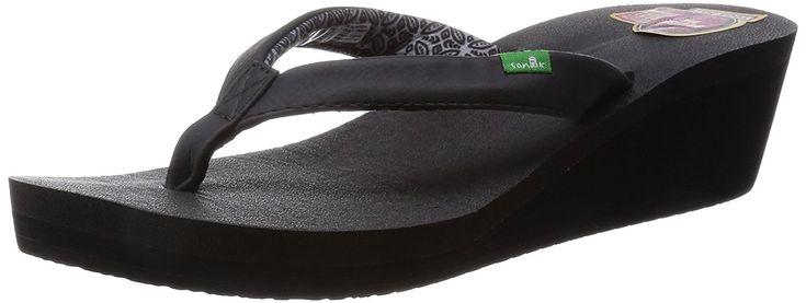 Yoga Zen Wedge Flip Flops ^^ You can get additional details, click the image : Sanuk flip flops