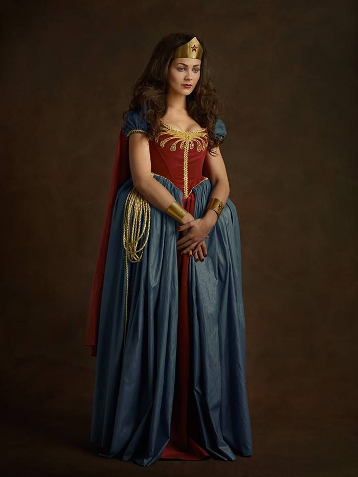 She still looks freaking awesome | Portraits Of Your Favorite Superheroes (In Flemish Style)