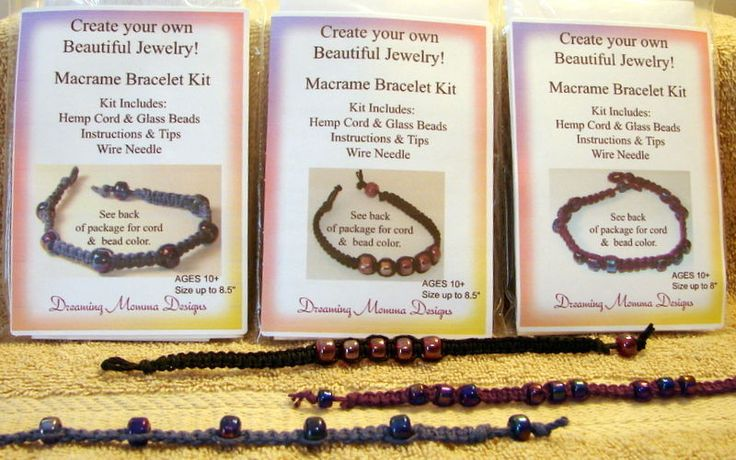Lot Jewelry kits, bracelet kits, Free ship, slumber party kits, Teen Crafts, Fun #DreamingMommaDesigns