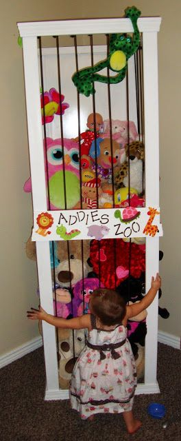 A good way to store stuffed animals. I remember this from several months ago and want to have it on-hand. The Keeper of the Cheerios: Addies Zoo