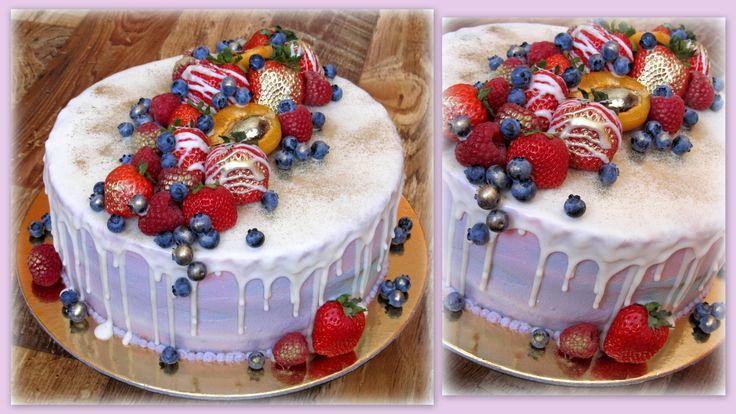Drip cake ovocný