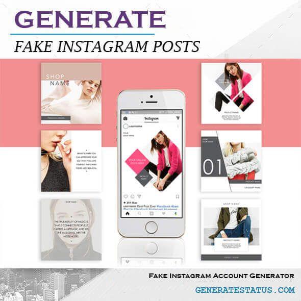 Best Fake Instagram Post Generator in 2020   Instagram