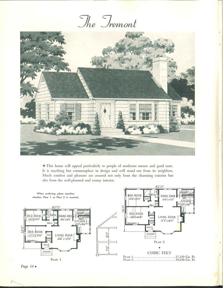Wahlfeld 1942 vintage house plans 1940s pinterest for 1940 house plans