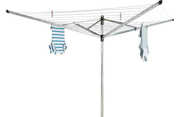 Brabantia 60m Outdoor Life-O-Matic Rotary Airer with Cover: The smart Lift-O-Matic system adjusts the airer height to match your ideal…