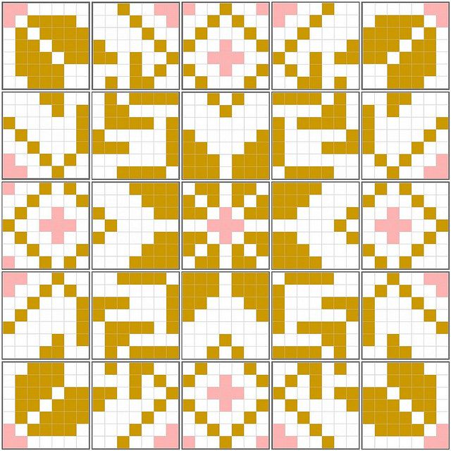 Fair Isle quilt mosaic by JenniferLGB, via Flickr