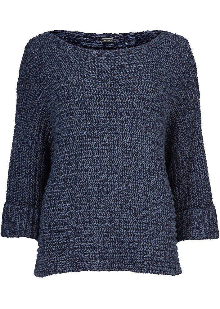 Sweater blå meleret 22402 Cape - 9221 midnight