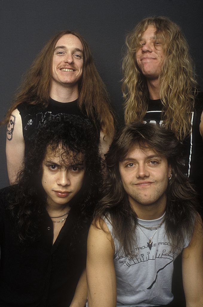 United States January 01 Photo Of Metallica And Cliff Burton And James Hetfield And Kirk Hammett And Lars Ulrich To Metallica Band Metallica James Hetfield