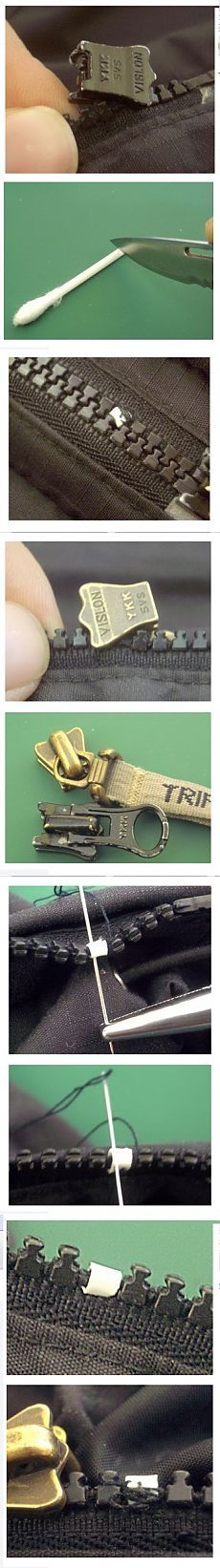 Как самостоятельно починить сломанную пластиковую молнию на куртке или сумке, если у нее выпал зубчик. Ремонт молнии своими руками в домашних условиях