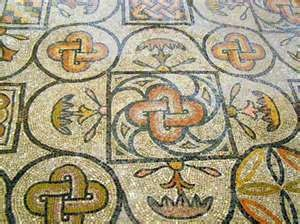 Part of the mosaic floor of the Basilica in Aquileia