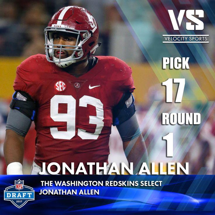 The Washington Redskins select  Jonathan Allen .. .. .. #DraftDay #NFL #NFLdraft #NFLdraft2017 #football #sports #Redskins #velocitysports #WashingtonRedskins