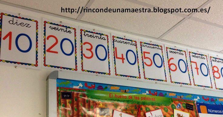 Rincón de una maestra: Carteles de las decenas