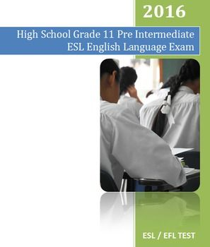 This is a pre-intermediate English as a Second Language (ESL) examination. It's…