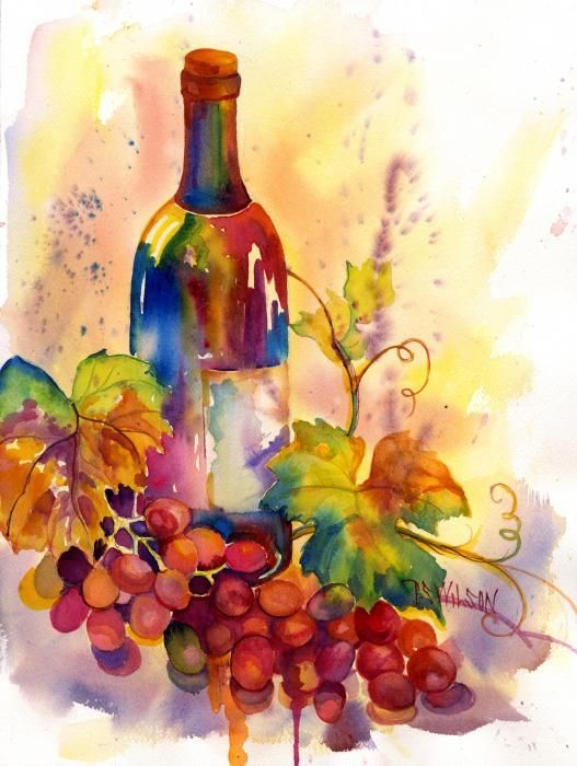 Watercolor Wine - Peggy Wilson
