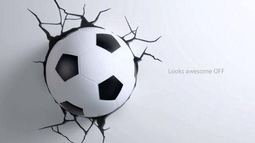 Luminária 3d Bola Futebol Brasil Parede Quarto Criança Sala - R$ 199,99
