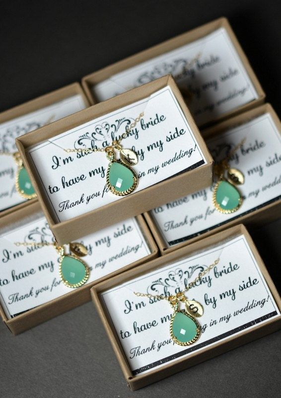 Mint opal green gold necklace ,Bridesmaid Wedding Bridal Bridesmaid Jewelry-Bridesmaid gifts ,personalized NECKLACE , monogrammed gifts