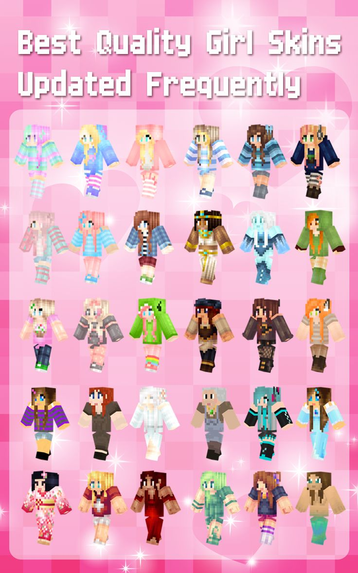 Amazon.com: Girl Skins for PE - Best Skin Simulator and Exporter for Minecraft Pocket Edition: Appstore for Android