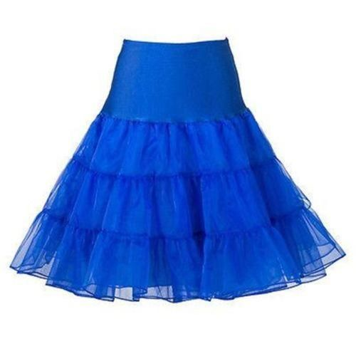 Electric Blue Pinup Petticoat.  Womens clothing & accessories inspired by 1950s pinup and rockabilly fashion.  Shop now for $30 + shipping.