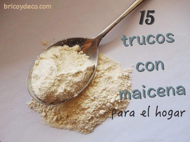 15  TRUCOS  CON  MAICENA .-