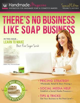 There's no business like soap business magazine - valuable soap recipes and lots of other information on the craft - free full version to read online or download! Amazing 46 pages.