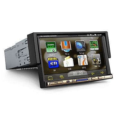 7 inch 1Din Car DVD Player with GPS Bluetooth TV RDS USD $ 219.99