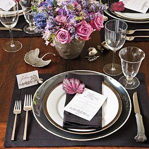 Dramatic Thanksgiving Table Setting