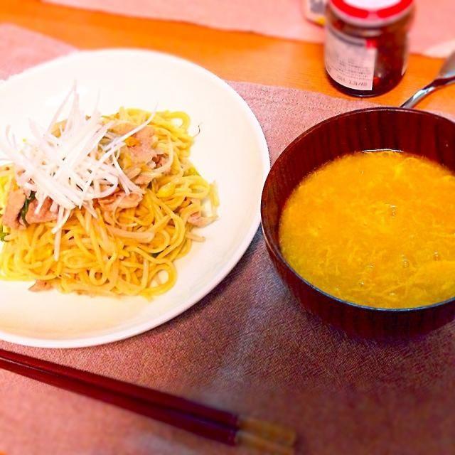 味の素の香味ペーストのHPより。 - 5件のもぐもぐ - 豚もやし焼きそば、中国風コーンスープ。 by asumi1022