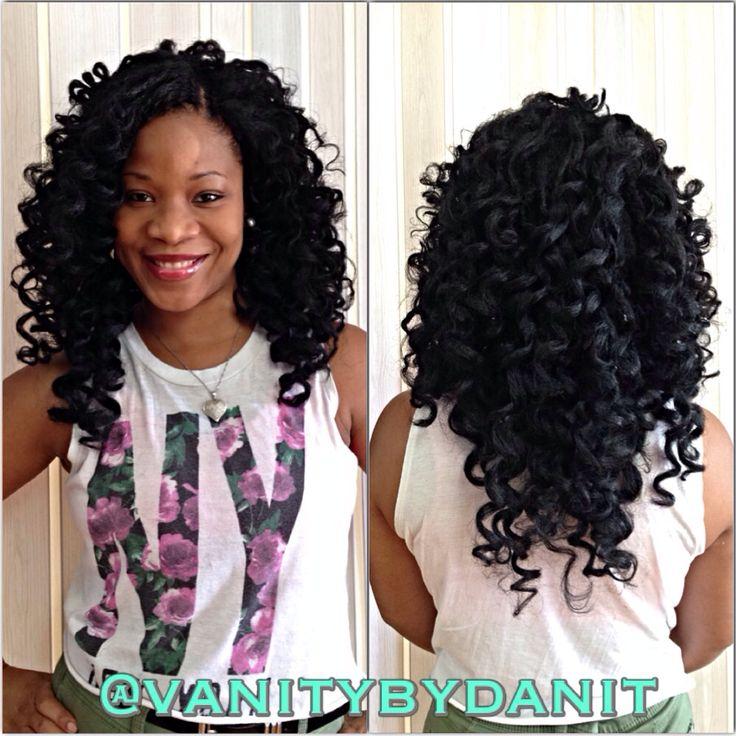 Ways To Style Crochet Box Braids : Crochet braids using Marley braid hair . Dipped in hot water using ...