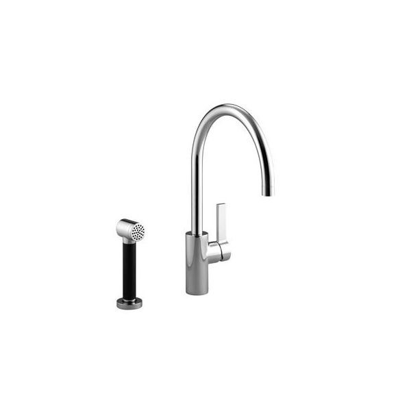 Dornbracht Tara Ultra Platinum Matte Single Handle Kitchen Faucet With Spray