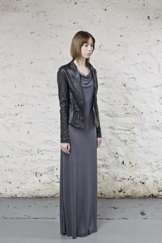 Black Washed Leather Jacket /OVATE