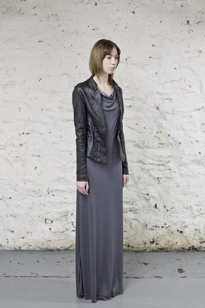 Black Washed Leather Jacket /OVATE