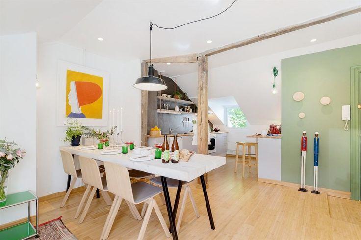 FINN – LEV I EKTE TØYENSK STIL - Kul 2-roms loftsleilighet med særpreg. 40 kvm gulv, skråtak og røffe bærebjelker. Rolig miljøgate.