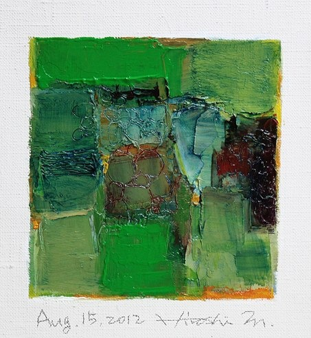Interesting, likes the written dates.  Likes the painterly approach and color