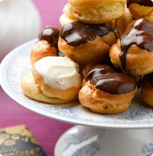 Chocolate choux buns :)  Definitely take one ^^